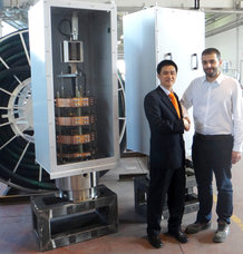 Two slip-ring assemblies for a coal-fired power plant in China