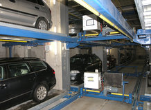 Parking system in an office building